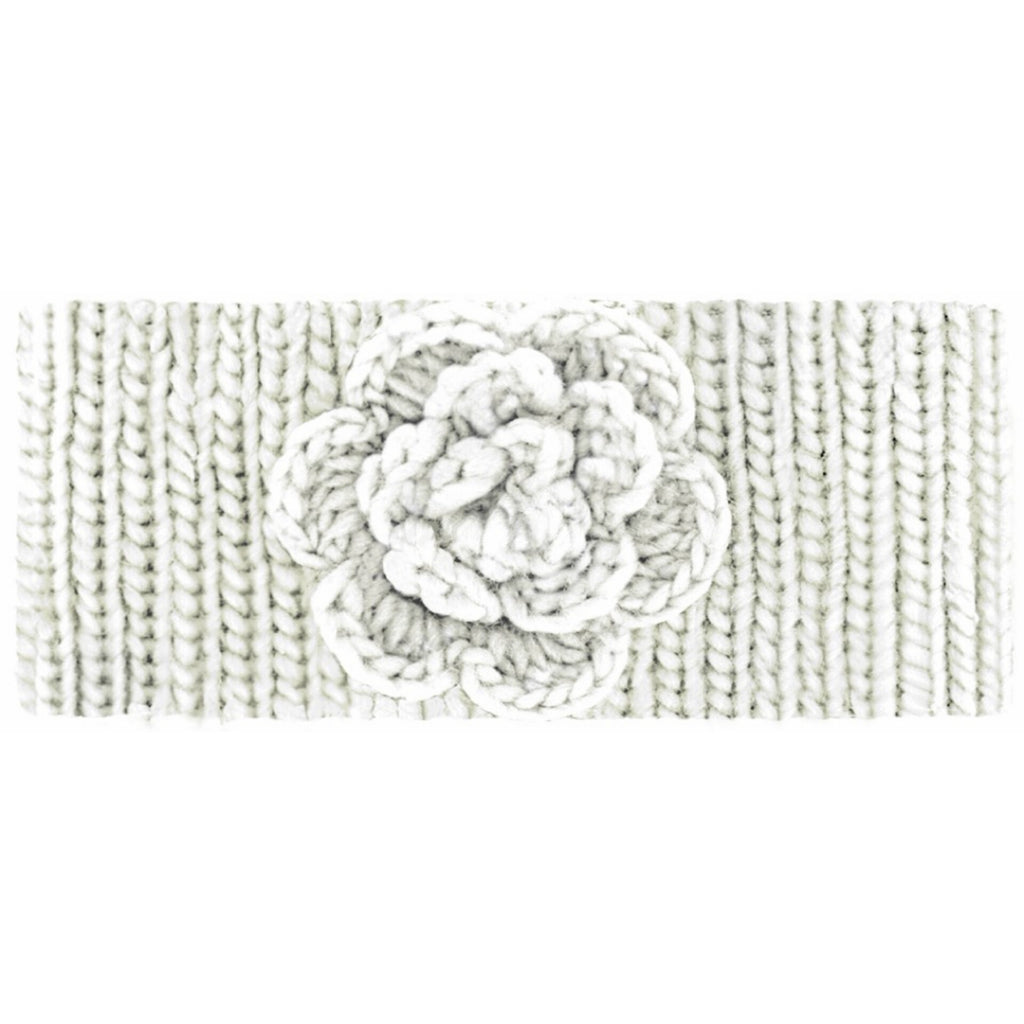 Women's Ivory Cable Knit Head Warmer