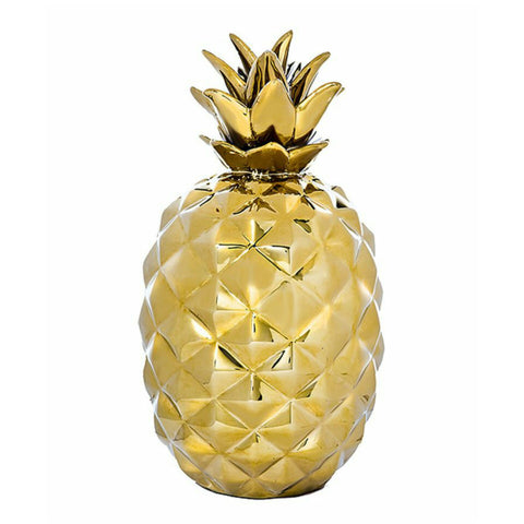 Gold Pineapple Decorative Figurine Sculpture