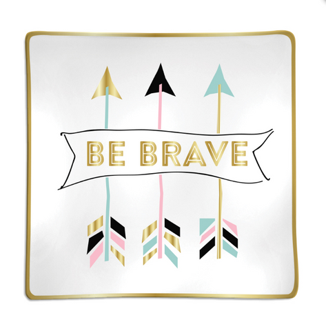 BE BRAVE tribal inspired trinket tray