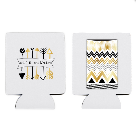 Wild Within boho inspired can koozie cover