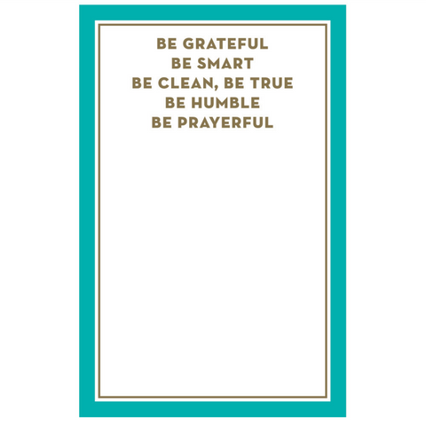 Be Grateful Be Smart Sentiment Note Pad