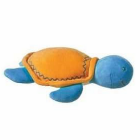 Earthmates Organic Turtle Plush Velour Rattle Toy for Babies