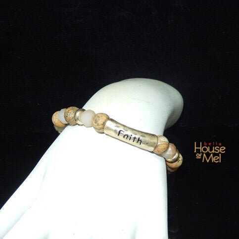 FAITH natural stone bead bracelet