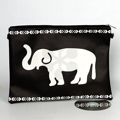 Black and White Elephant Tribal handbag