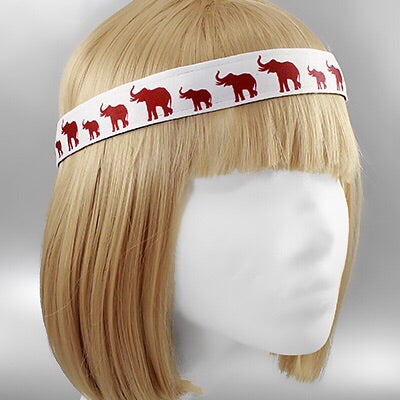 Crimson and White Elephant headband
