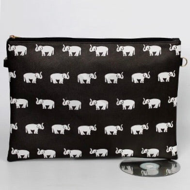 Black and White Elephant handbag