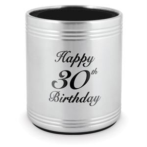 STAINLESS STEEL STUBBY HOLDER - HAPPY 30TH BIRTHDAY