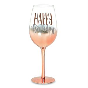 Assorted Aged Rose Gold Ombre Wine Glasses 430ml