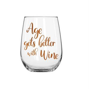 Age Gets Better Stemless Wine Glass 600ml