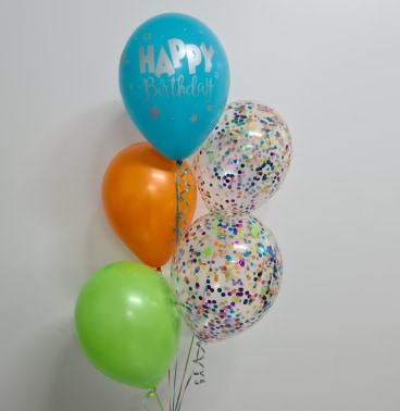 5 Balloon Confetti Bouquet