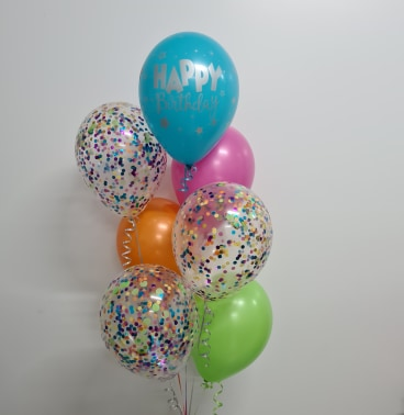 7 Balloon Confetti Bouquet