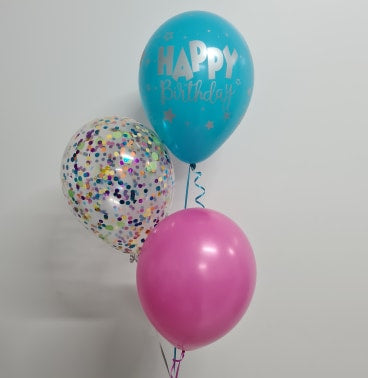 3 Balloon Confetti Bouquet