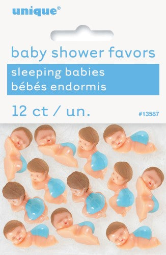 Babies with Diaper Blue Baby Shower Favors 12 pk