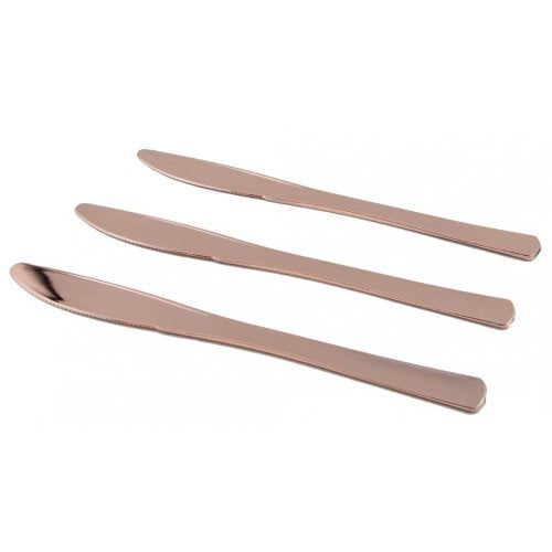 Cutlery Rose Gold Knife 12 Pack