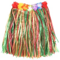 60cm Multi-coloured Hawaiian Skirt