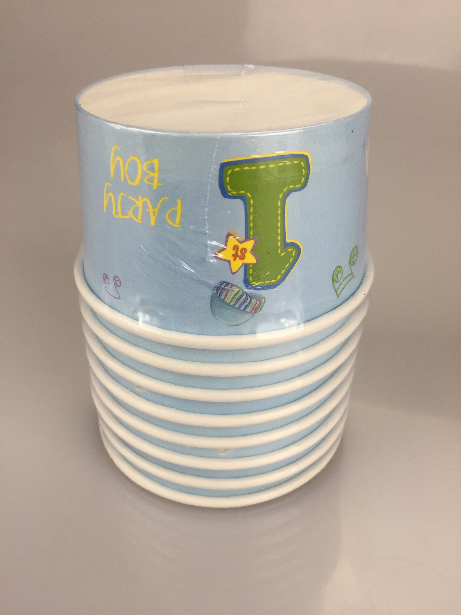 1ST BIRTHDAY BOY ICE CREAM CUP 8 PACK