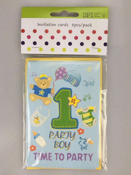 1ST BIRTHDAY BOY INVITATION CARDS