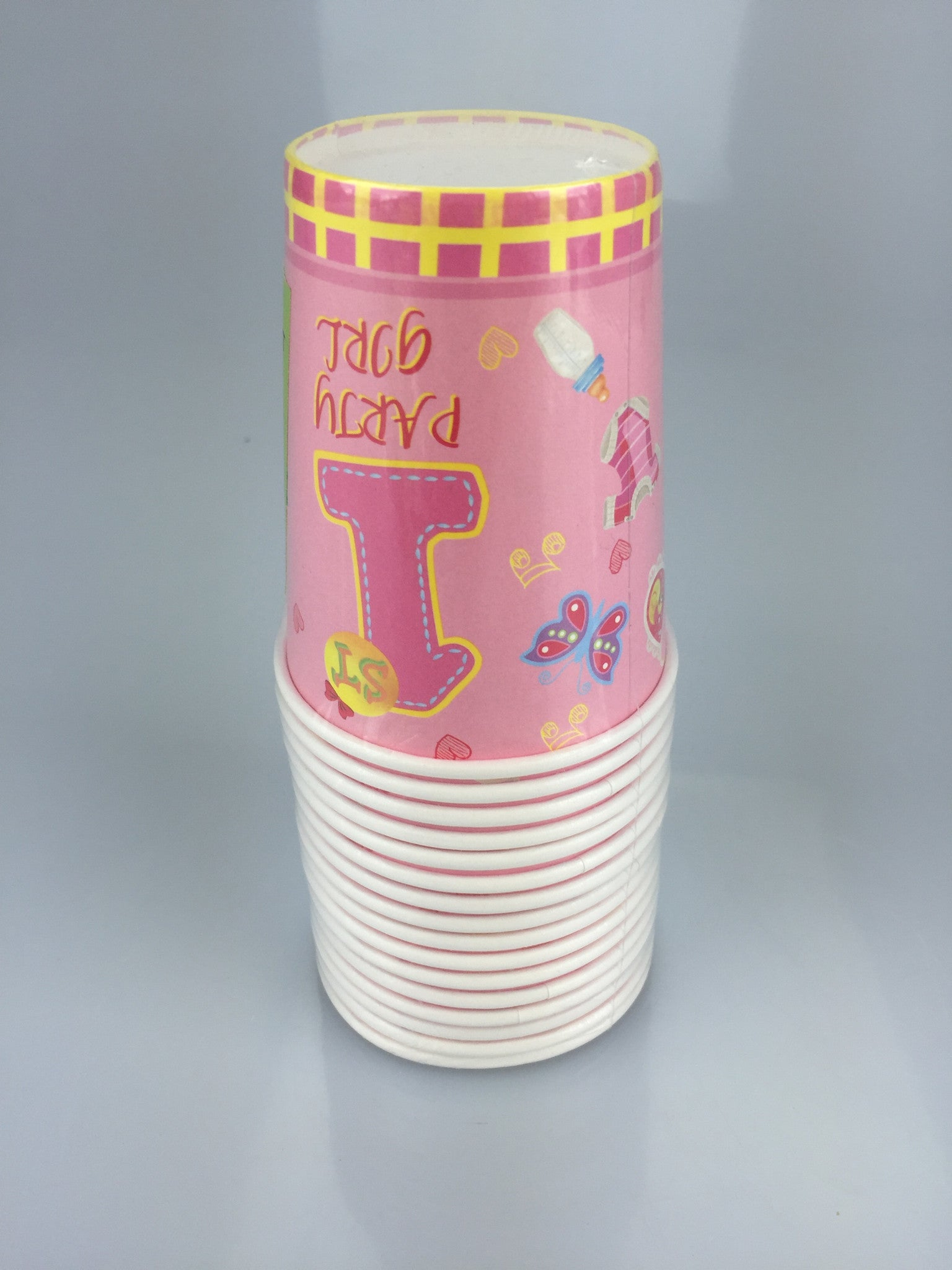 1ST BIRTHDAY GIRL 9OZ CUPS 16PCS