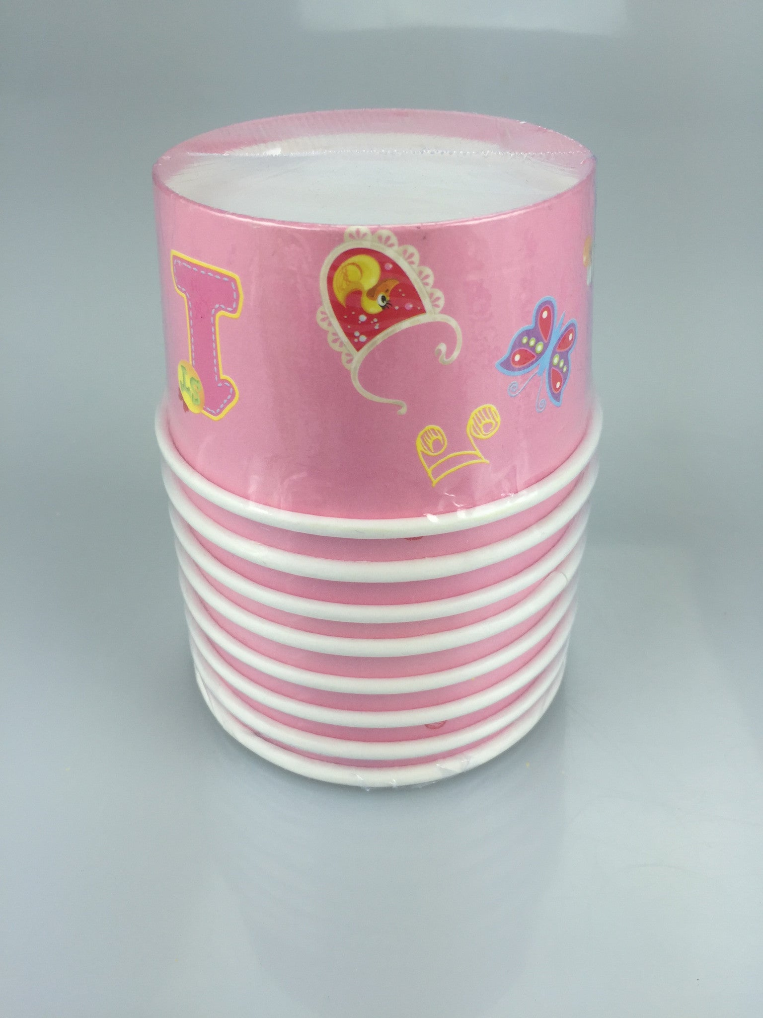 1ST BIRTHDAY GIRL ICE CREAM CUP 8PC