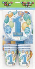 1ST BALLOONS BLUE PARTY PACK FOR 8