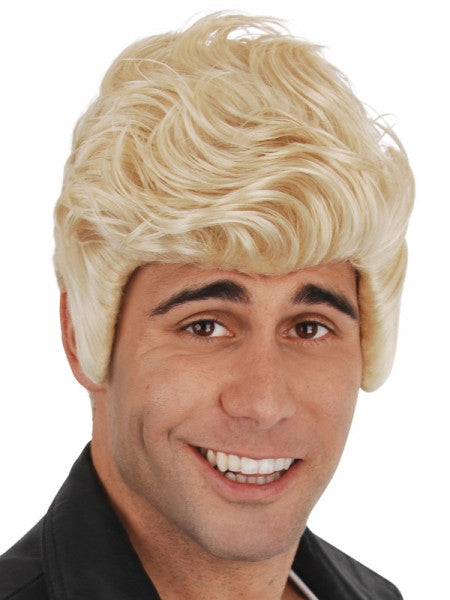 Kenickie Short Blonde Wig With Sideburns