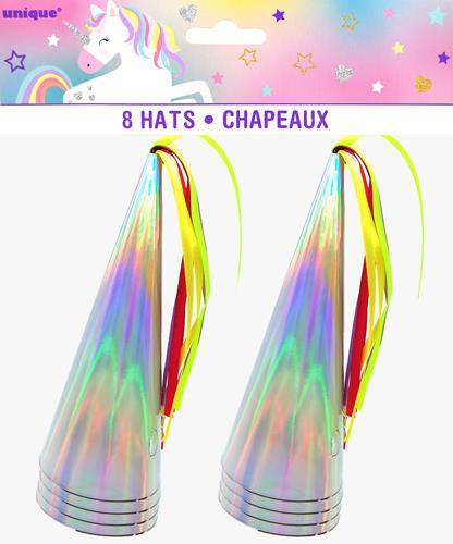 Unicorn Horn Party Hats 8 Pack