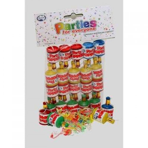 Party Poppers 20 Pack