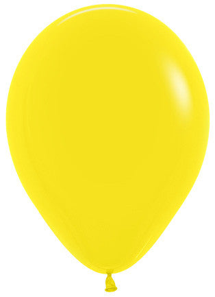 Decrotex 100 Pack Standard/Fashion Yellow 30cm Balloon