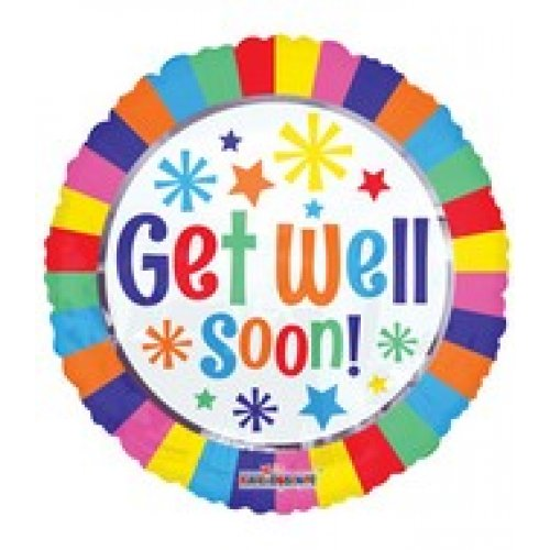 Colourful Get Well 18'' Foil Balloon