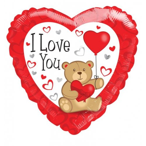 I Love You 18'' Heart Foil Balloon