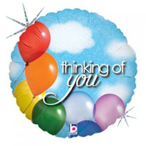 "18"" Foil Balloon Thinking Of You Balloons & Sky"