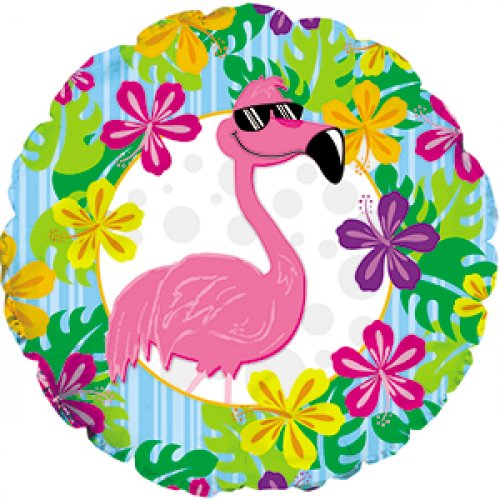 "Flamingo Luau 18"" Foil Balloon"