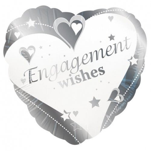 "Foil Balloon 18"" Engagement Wishes"