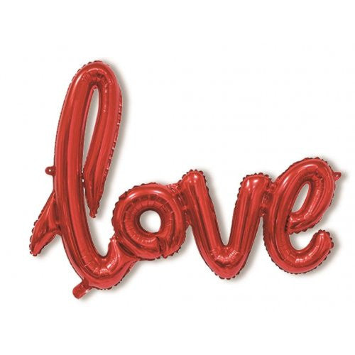"40"" Foil Balloon Script ""Love"" Red"