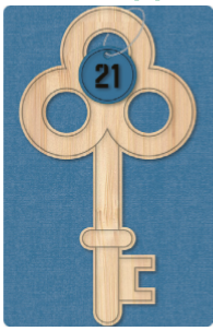 Card Couture 21st Male Wooden Key