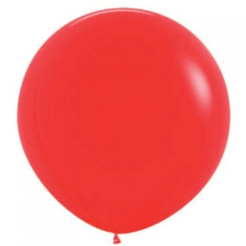 Red 90Cm/3Ft Latex Balloon - Uninflated