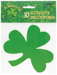 10 Mini Shamrock Cut Outs
