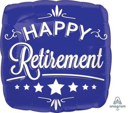 "Foil 18"" Happy Retirement"