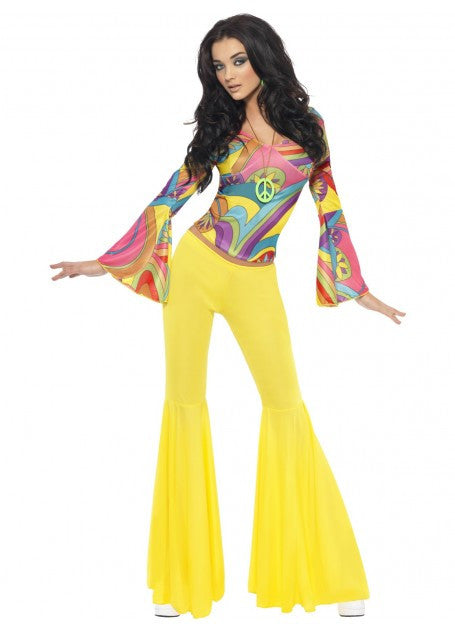 Fever 70'S Groovy Babe Ladies Costume - Size M