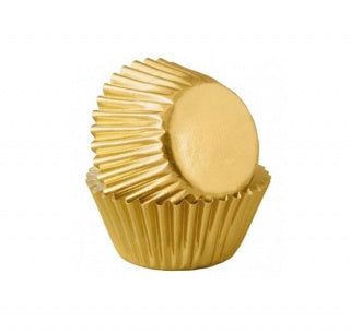 Gold Mini Muffin Baking Cups - 45 Piece Pack