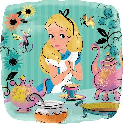 Alice In Wonderland Foil Balloon 43cm