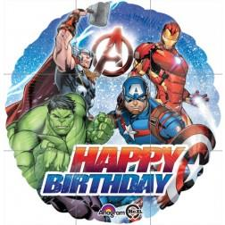 Avengers Happy Birthday Foil Balloon 45cm