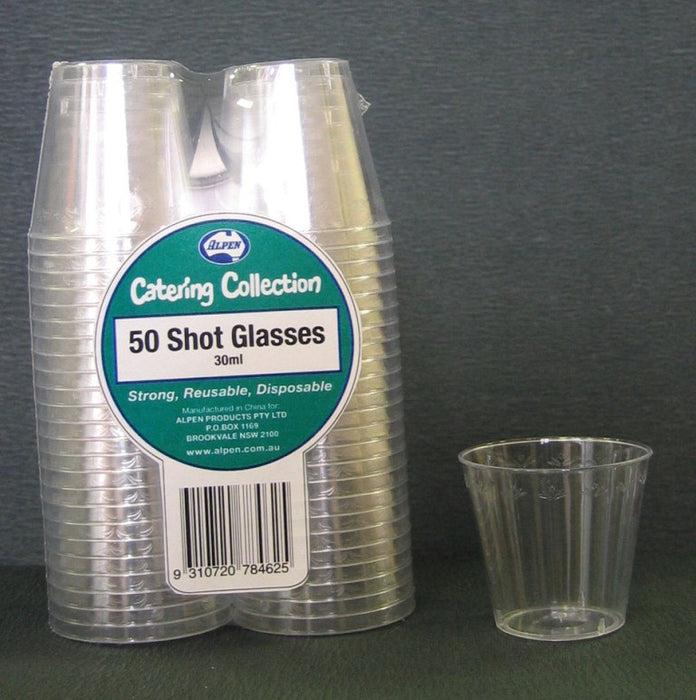 Shot Glasses 30ml Pk 50