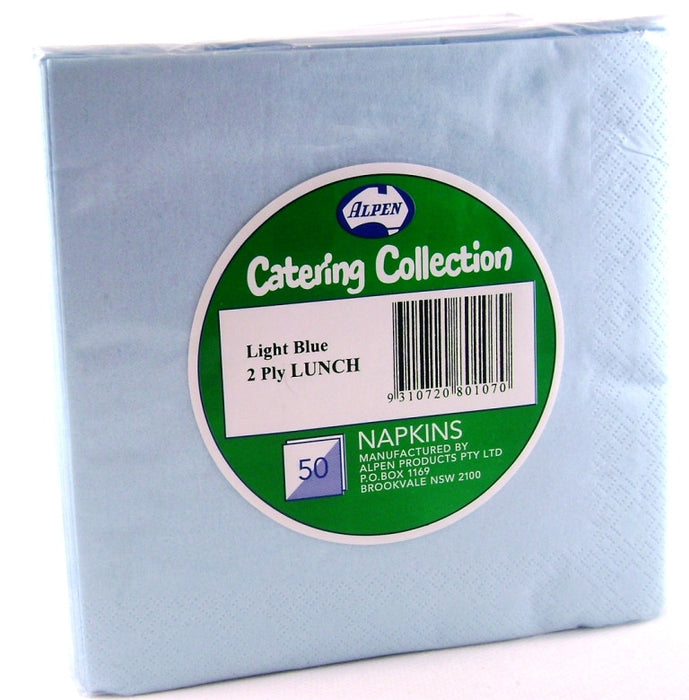 Dinner Napkin Pack 50 - Light Blue