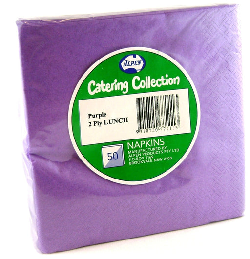 Lunch Napkin Pack 50 - Purple