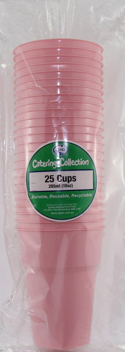 Plastic Cups 25 Pack - Light Pink