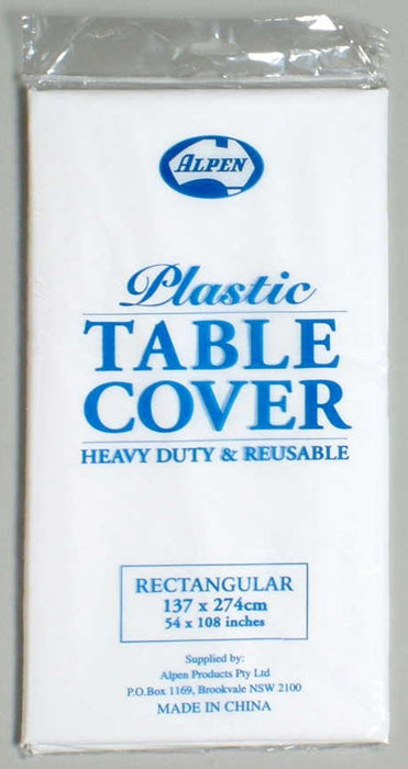 Rectangle Tablecover - White