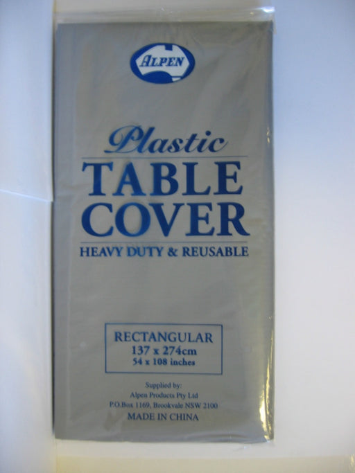 Rectangle Tablecover - Silver