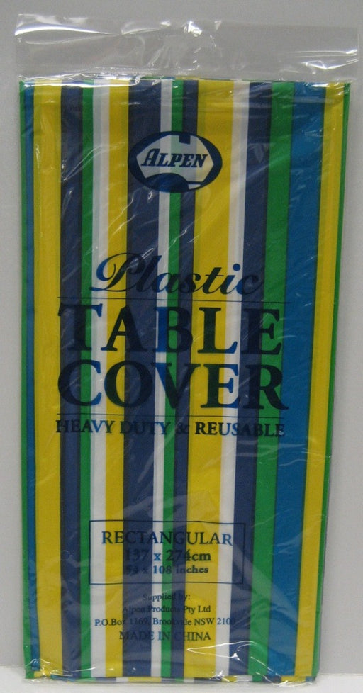 Rectangle Table Cover - Blue & Green Stripe