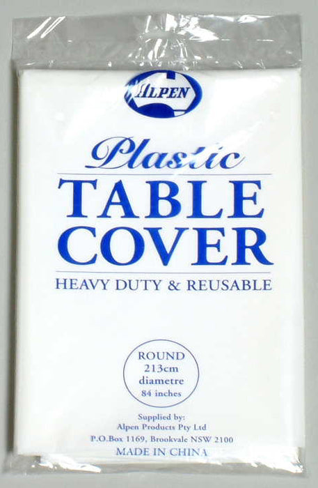Plastic Tablecover Round - White